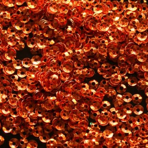 CLEARANCE  Large Pack 3mm Metallic Orange Cupped Sequins. SAVE £3 BUY 1 GET 1 FREE